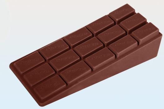 Rubber deurstopper chocolade