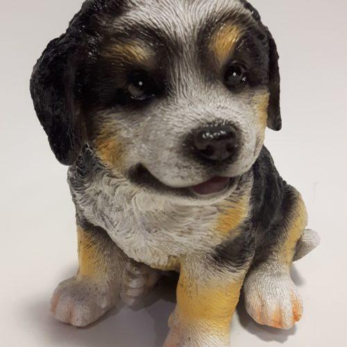 Sint Bernhard hond beeldje van polystone