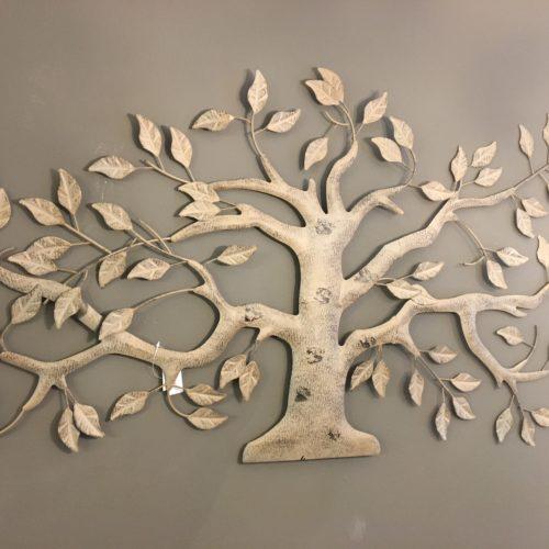 wand decoratie metalen olijf boom