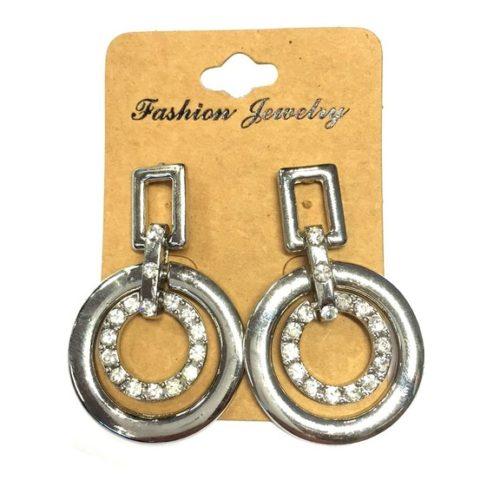Metalen oorbellen. 2 ringen