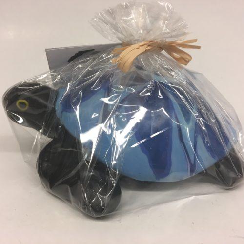 Swazi candle schildpad met blauw motief