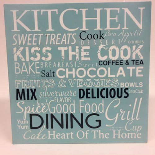 Tekstbord kitchen cook dining mix