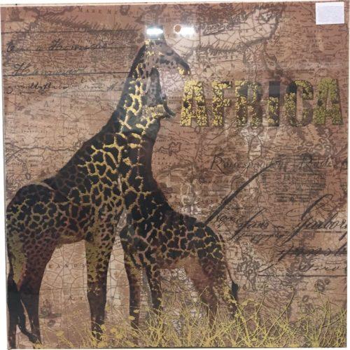 Canvas schilderij giraffen Afrika