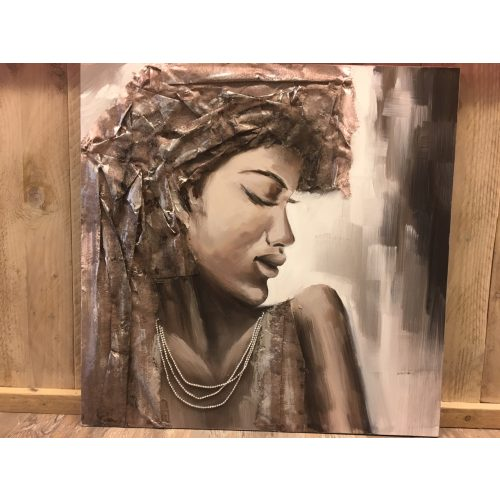 Schilderij vrouw in reliëf