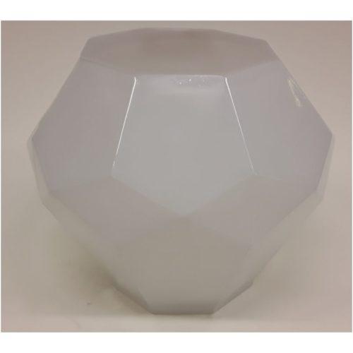 Hakbijl glass vaas wit met vlakken