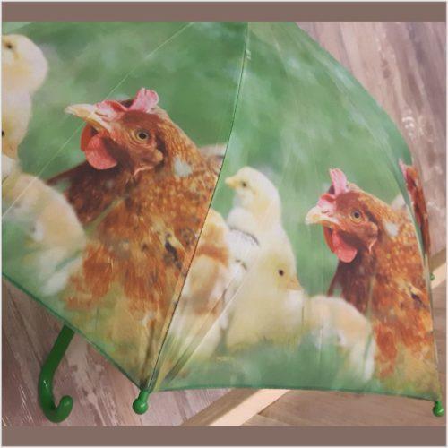 Kinder paraplu kuikentjes en kippen van Esschert design