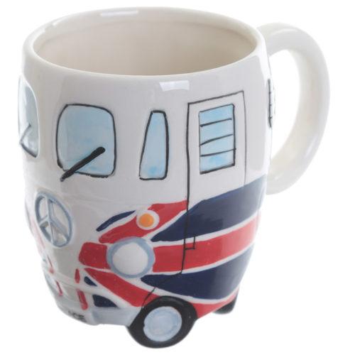 Mok Volkswagen camper britse vlag