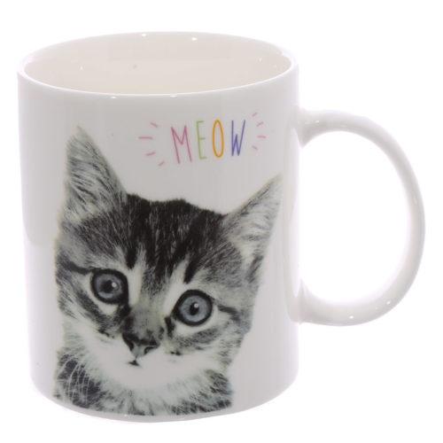 Mok meow met kitten afbeelding