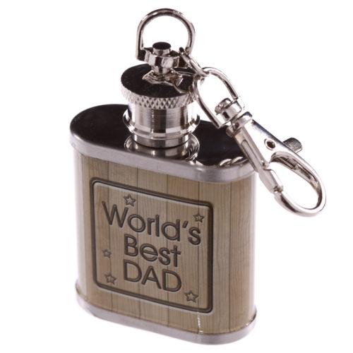 Sleutelhanger heupfles voor vader worlds best dad 2