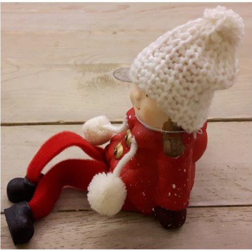Beeldje kerst kind met bungelbeentjes bij fame musthaves - Decoratie kind ...