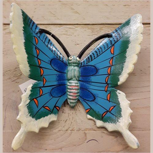 Hollandse wand vlinder 17 centimeter blauw 2