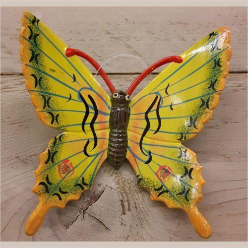 Hollandse wand vlinder 17 centimeter geel 2