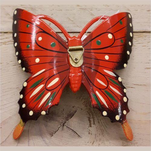 Hollandse wand vlinder 17 centimeter rood