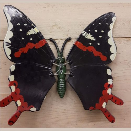 Hollandse wand vlinder 23 centimeter zwart rood
