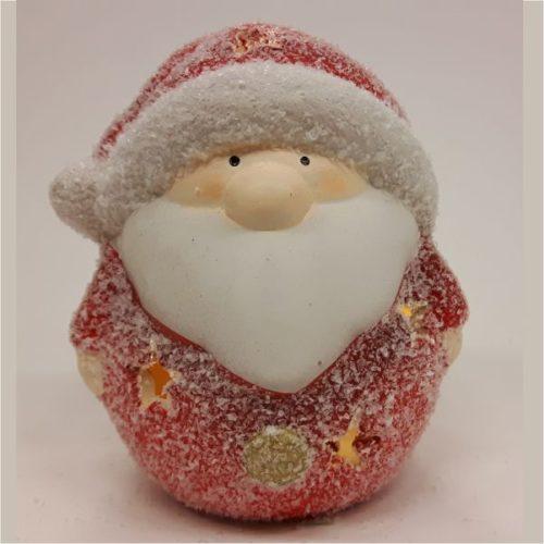 Kerstman in frost uitvoering klein met led-lampje