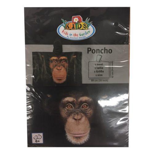 Poncho voor kinderen aap chimpansee