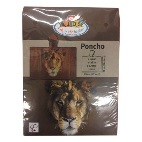 Poncho voor kinderen leeuw