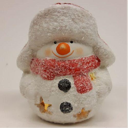 Sneeuwman in frost uitvoering met led-lampje