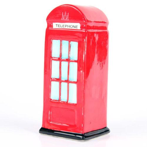 Spaarpot keramiek Londense telefooncel