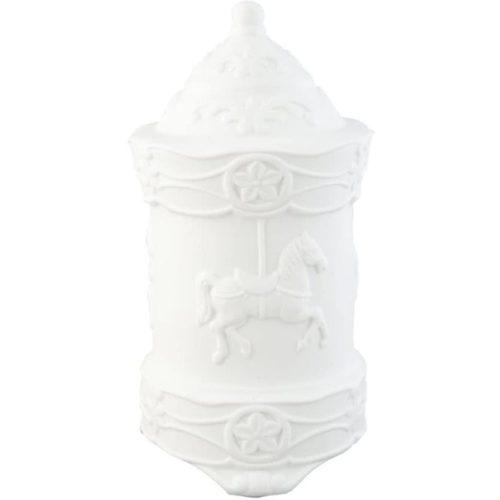 Tafel lamp carrousel groot wit keramiek