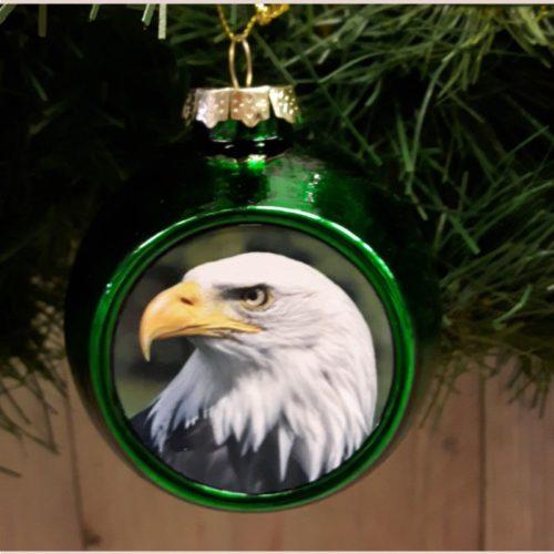 Deventer kerstbal Adelaar groen