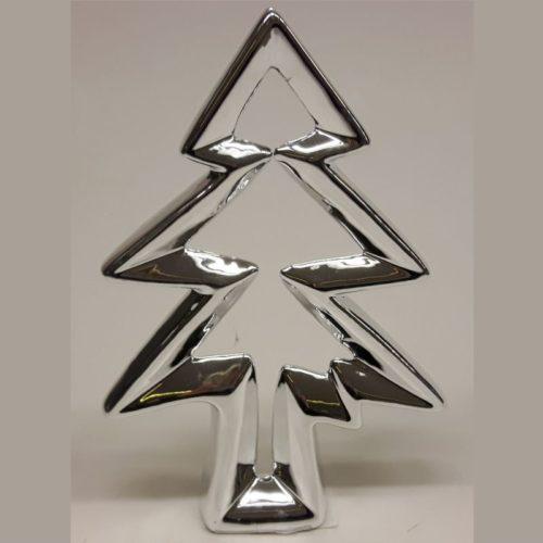 Goldbach zilverkleurige kerstboom 18 cm hoog