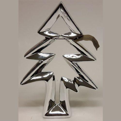 Goldbach zilverkleurige kerstboom 25 cm hoog