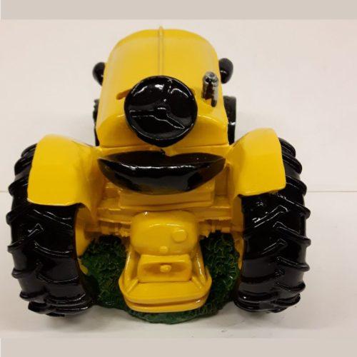 Grote spaarpot tractor geel
