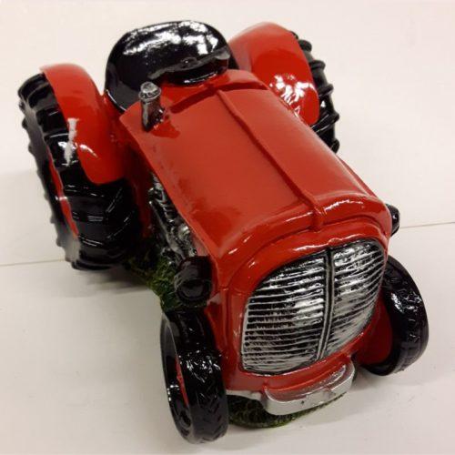 Grote spaarpot tractor rood
