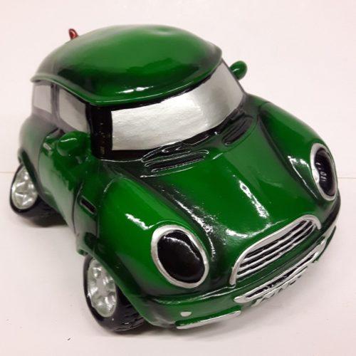 Spaarpot auto mini groen