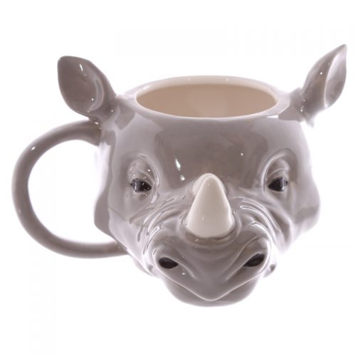Mok neushoorn van keramiek 3D