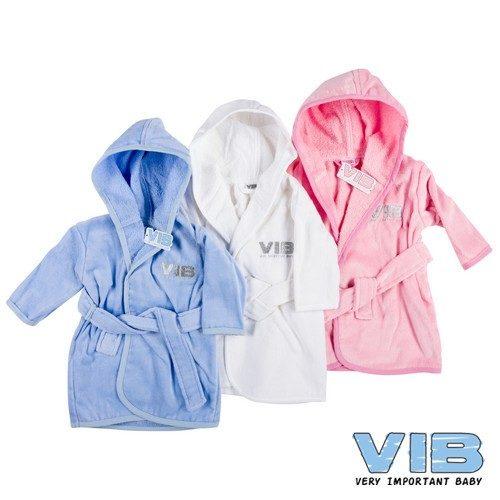 Baby badjasje VIB in blauw wit en roze