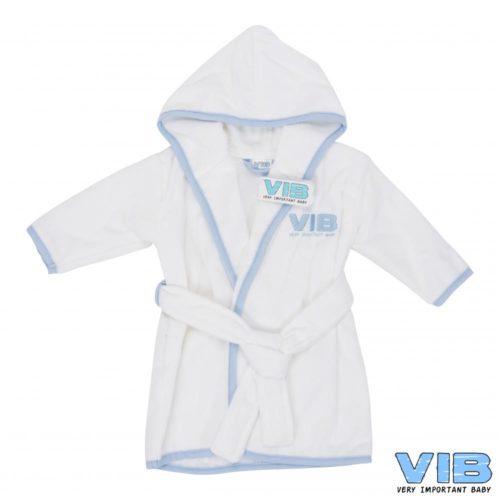 Baby badjasje VIB in wit met blauw
