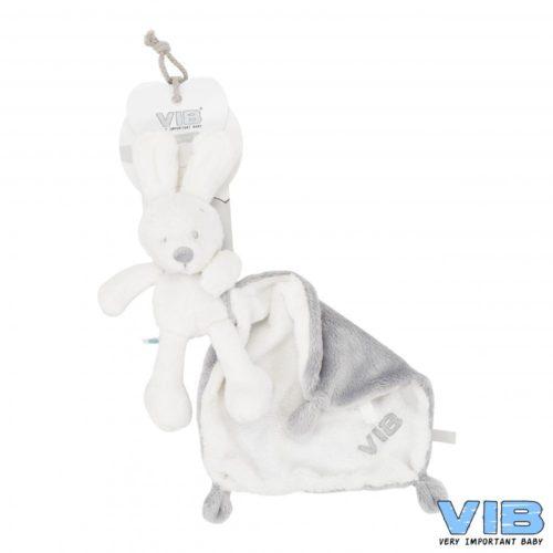 Pluche konijn met doekje wit van VIB
