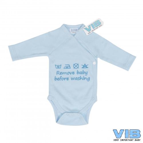 Romper VIB remove baby before washing blauw