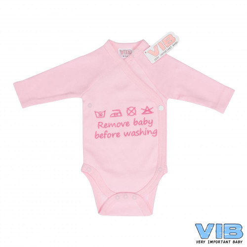 Romper VIB remove baby before washing roze