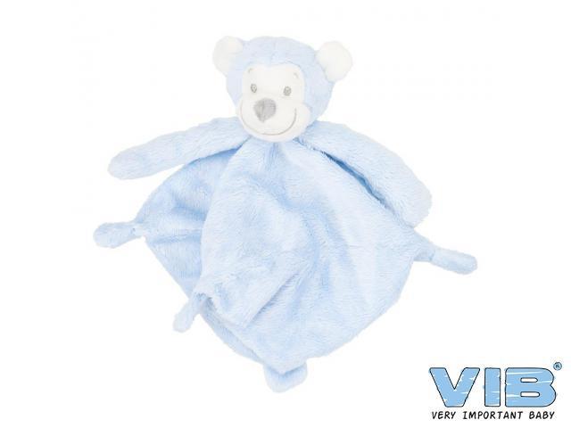 Baby knuffeldoekje VIB aap blauw roze of wit
