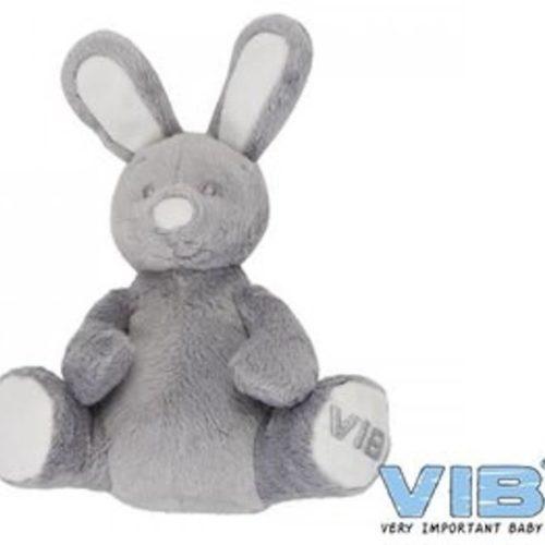 Grijs zittend pluche konijn Very Important Baby VIB