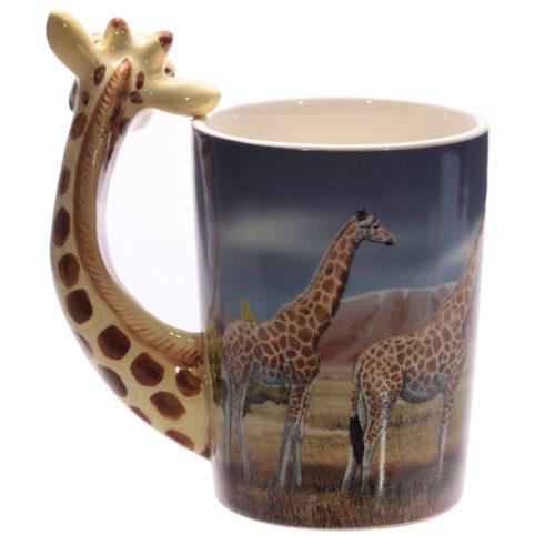 Mok safari giraffe met 3D oor