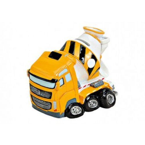 Spaarpot bouw vrachtauto betonmixer voor jongens