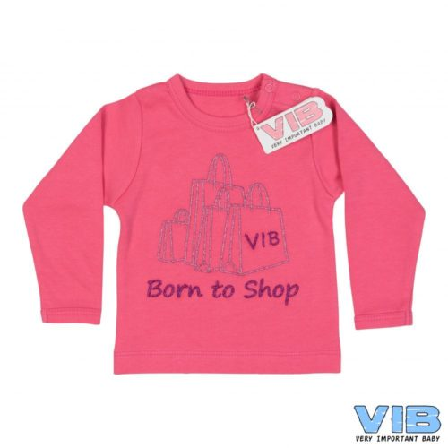 T-shirt baby Born to shop roze