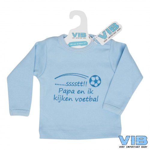 T-shirt baby VIB sstt papa en ik kijken voetbal