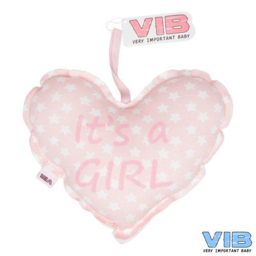 VIB baby kraamcadeau kussentje It's a girl