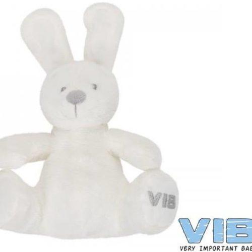 Wit zittend pluche konijn Very Important Baby VIB
