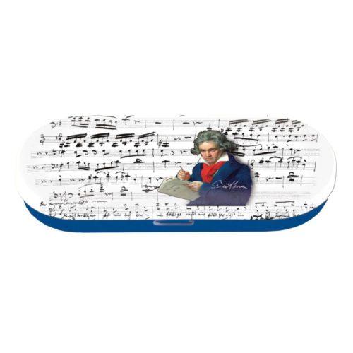 Brillenkoker Beethoven met bladmuziek print