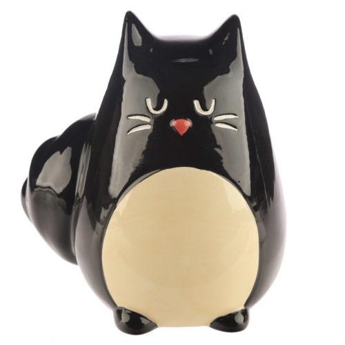 Feline zwarte kat spaarpot