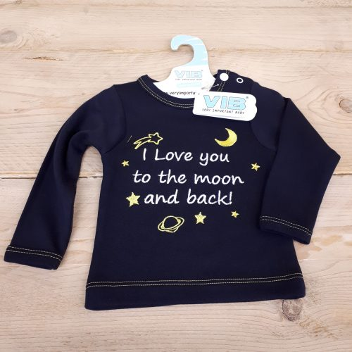 VIB baby T-shirt I love you to the moon and back