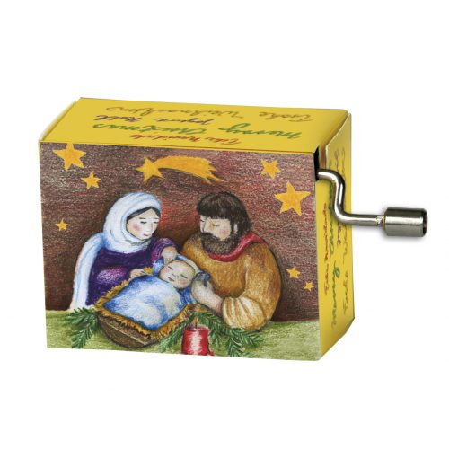 Muziekdoosje kerst kribbe met melodie Stille nacht