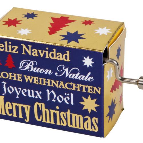 Muziekdoosje kerst kerstwensen met melodie Merry Christmas