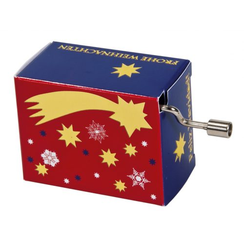 Muziekdoosje kerst vallende ster met melodie Jingle Bells